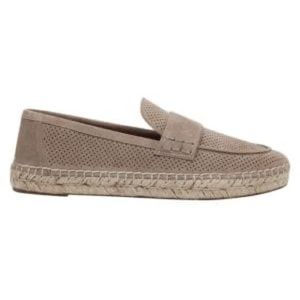Marc Fisher taupe suede espadrille loafers